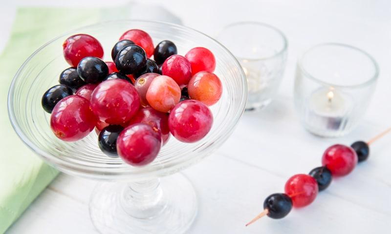 «Пьяный» виноград – идеальный праздничный десерт