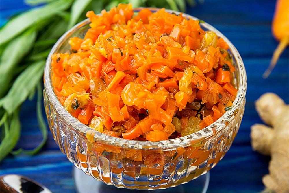 Морковное варенье с имбирем