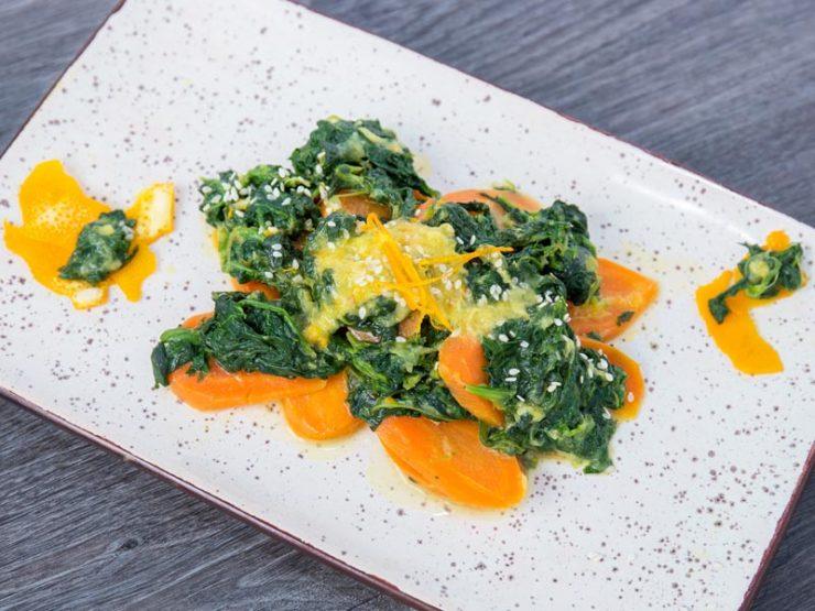Салат со Шпинатом и Апельсинов