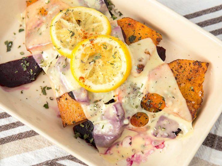 Салат со свеклой, тыквой и сыром