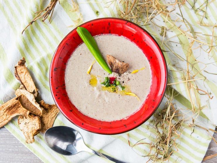 грибной крем-суп из белых грибов