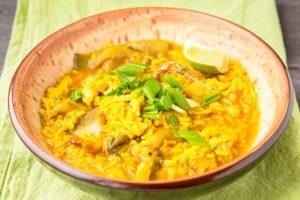 Рис с курицей и индийским карри