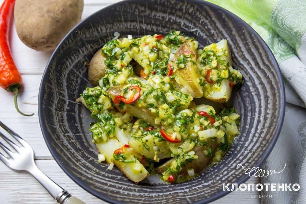Салат з печеної картоплі