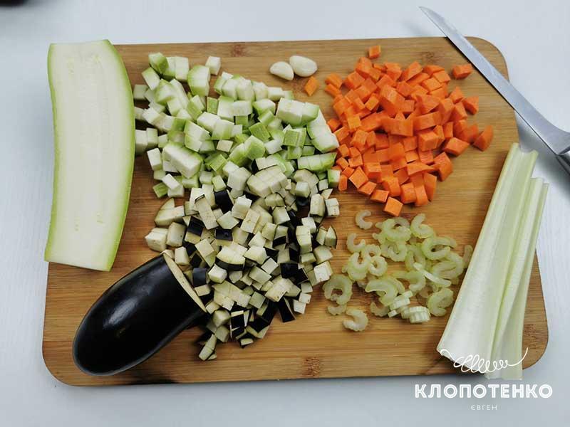 Подготовьте остальные овощи