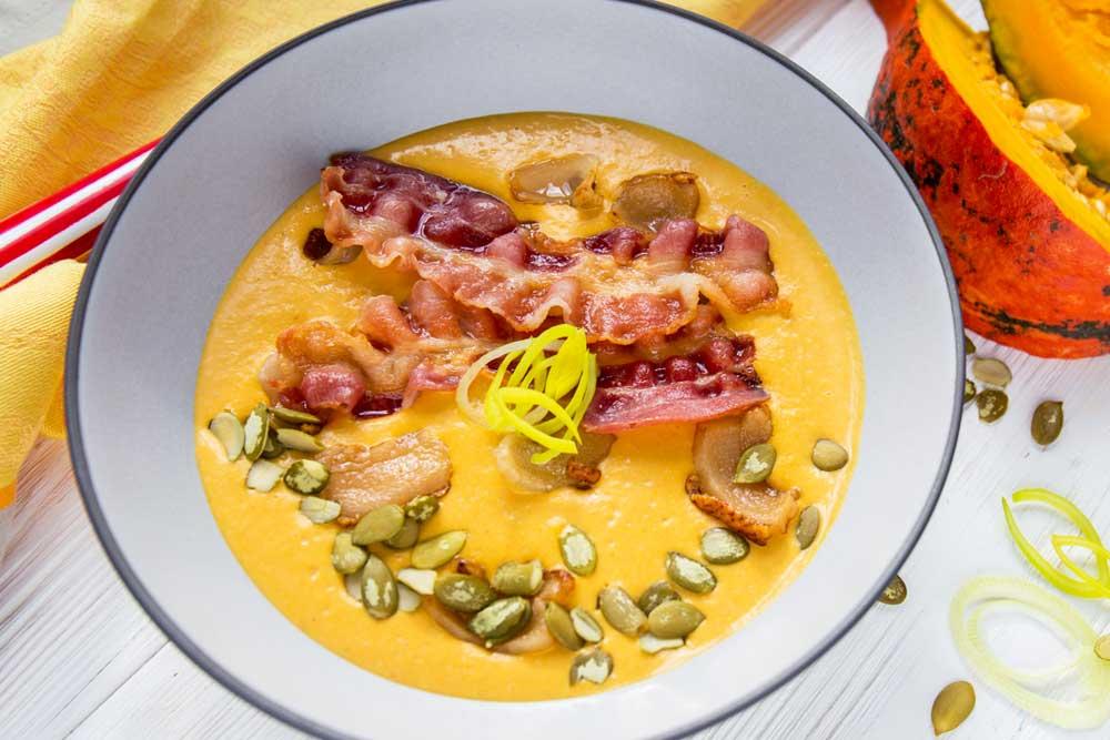 Тыквенный крем-суп с пикантной ноткой