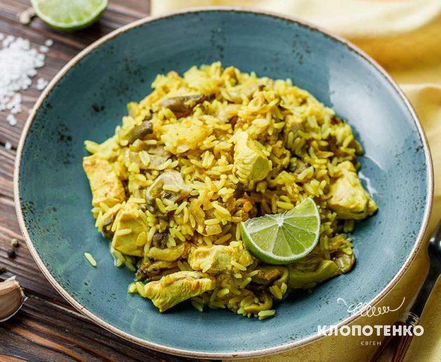 Рис з куркою і каррі
