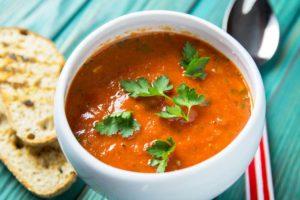 Суп гаспачо из запеченных овощей