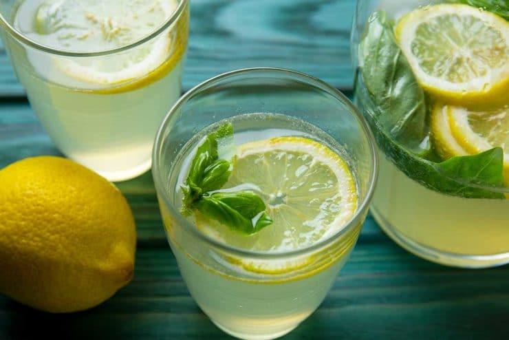 Лимонад с базиликом