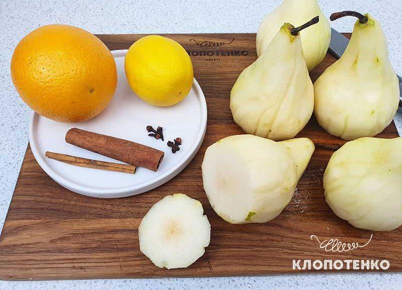Подготовьте все ингредиенты для приготовления грушевого пирога