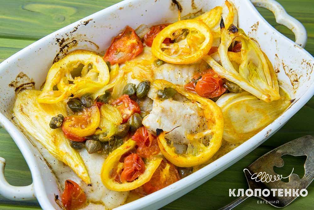 Рыба с фенхелем и лимоном