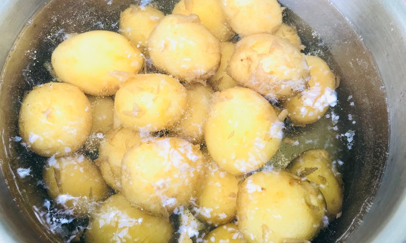шашлык из картофеля