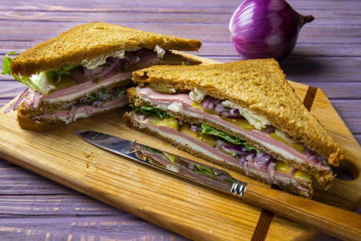 клаб сендвіч з шинкою