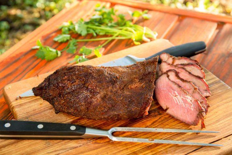 Копчена яловичина на багатті