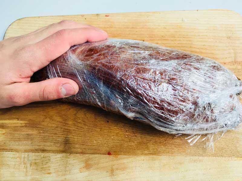 копченое мясо на костре
