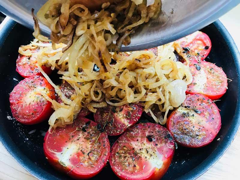 томатный пирог с луком