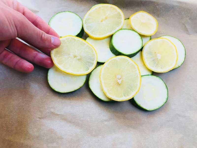 цукини с лимоном