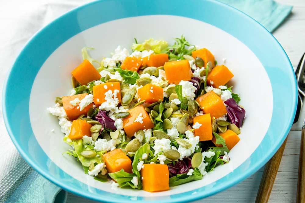 Салат з гарбузом і сиром