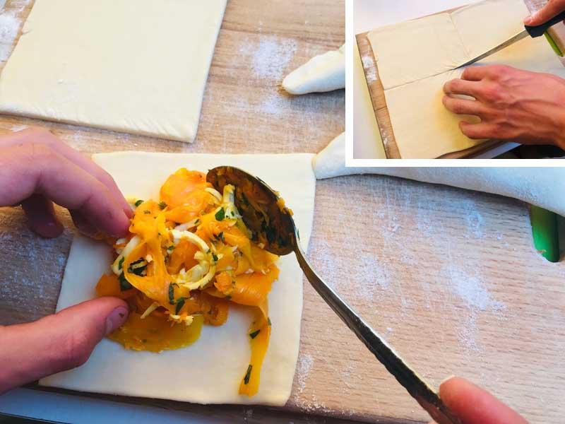 как сделать слойки с тыквой