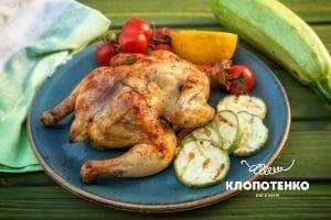 Цыпленок на гриле с овощами