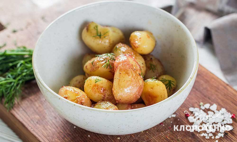 Молодой картофель в карамели