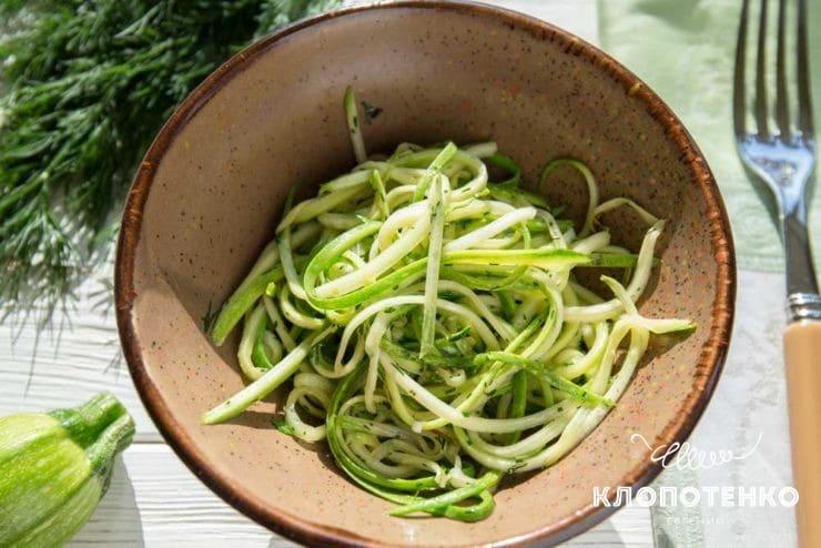 Спагетти из цукини