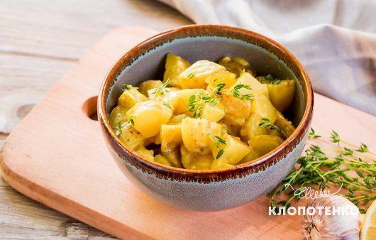 Картофельный салат с соусом айоли