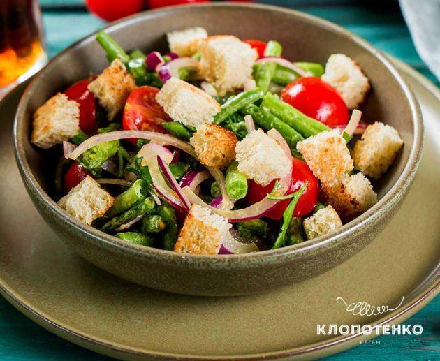 Салат из спаржевой фасоли