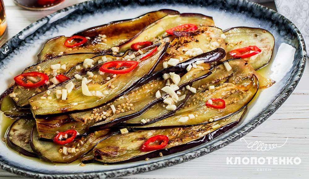 Жареные баклажаны в маринаде