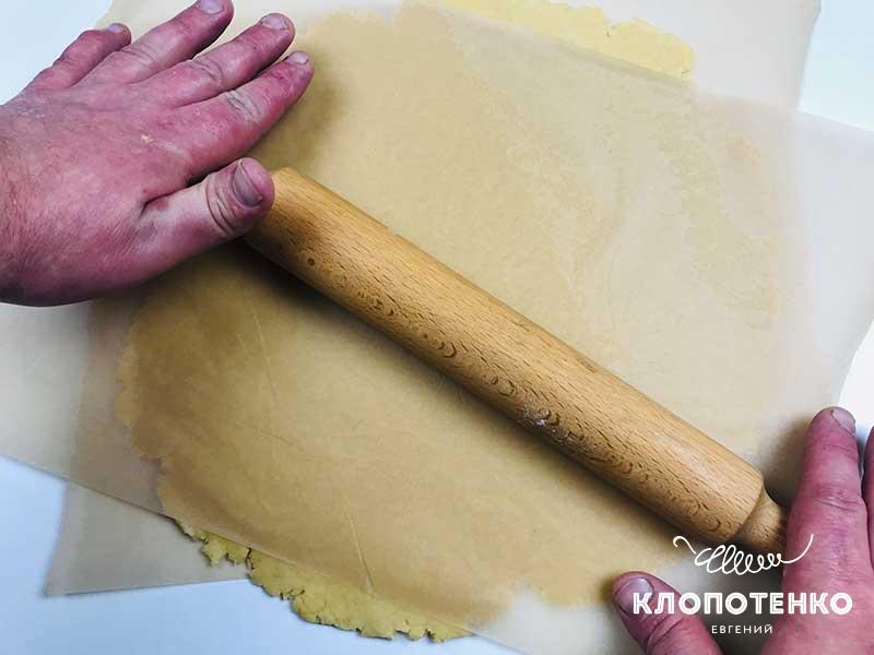 как раскатать песочное тесто