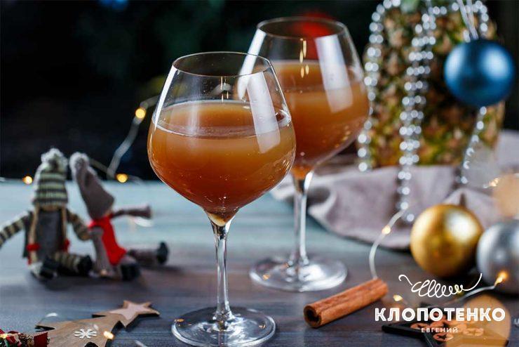 Коктейль з коньяком і ананасовим соком