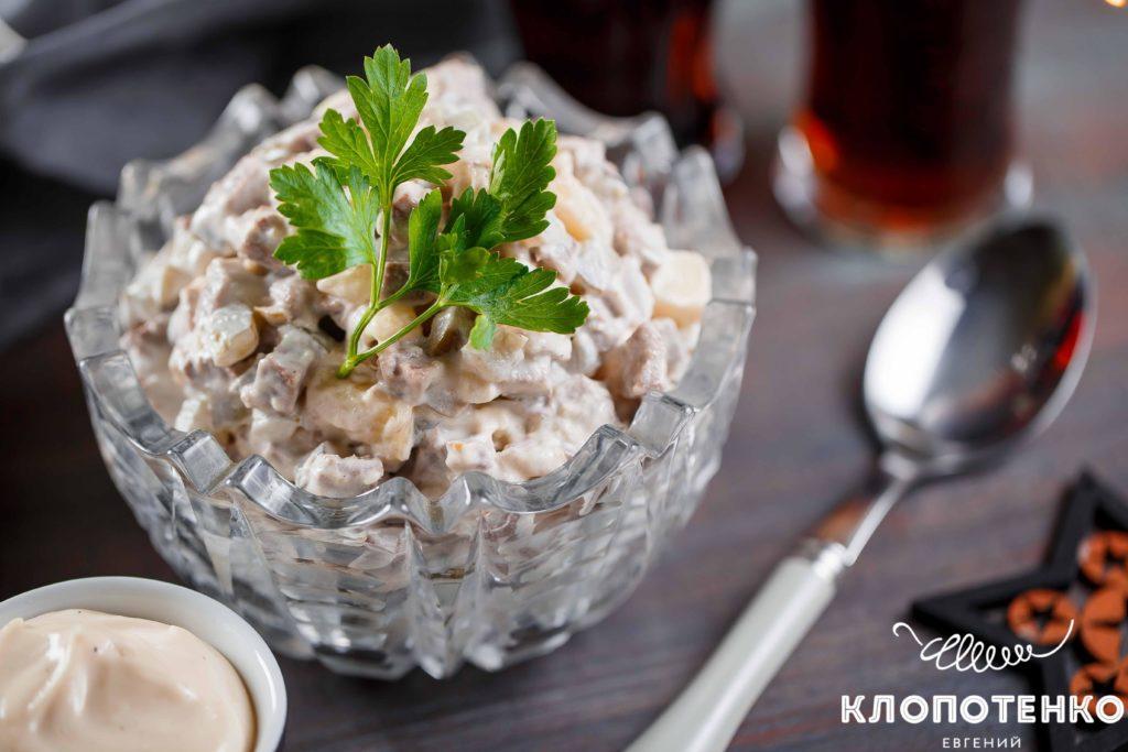 Что приготовить на Новый год. салат с языком