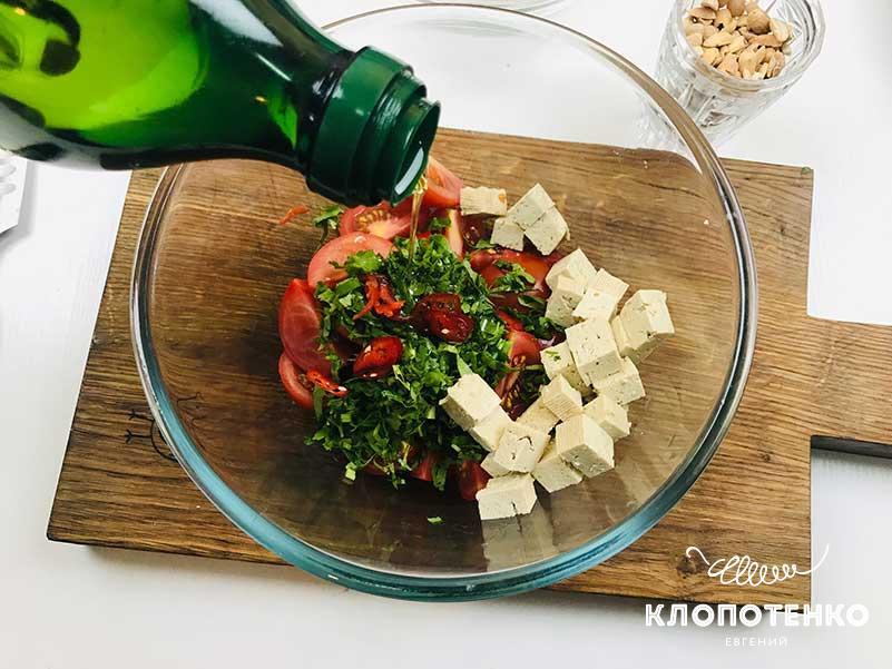 Добавьте оливковое масло