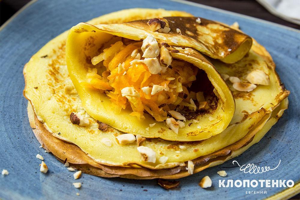 Начинка для блинов с тыквой и яблоками