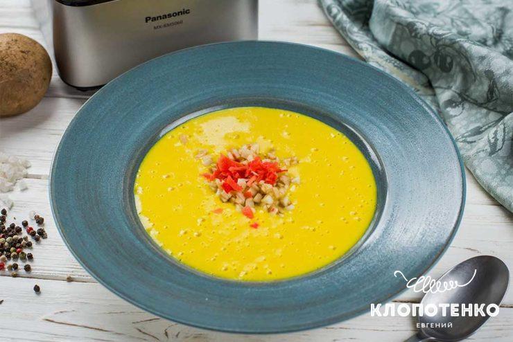 Картофельный крем-суп с куркумой