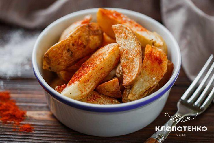 Картофель по-селянски во фритюре