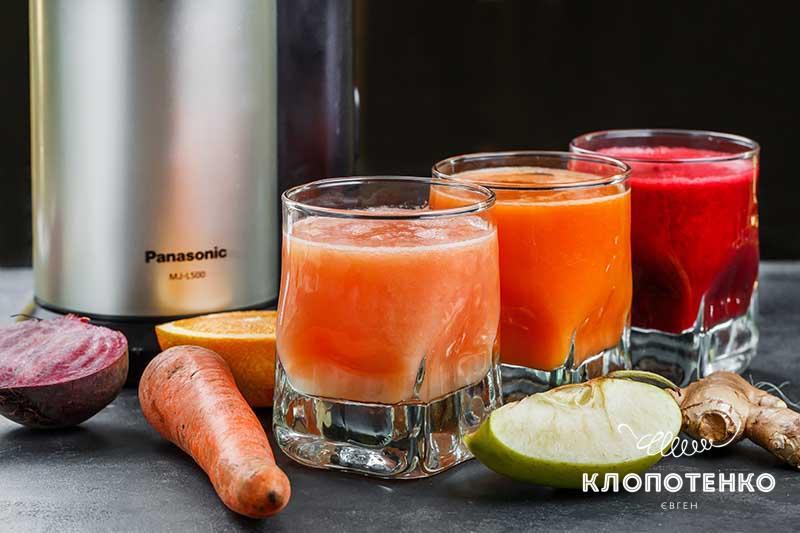 Как выжать соки из овощей