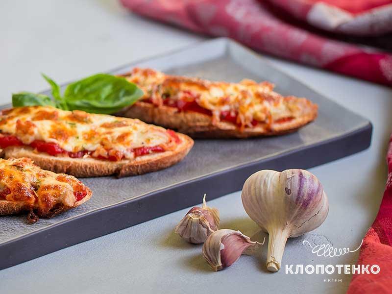 Мини-пицца из багета