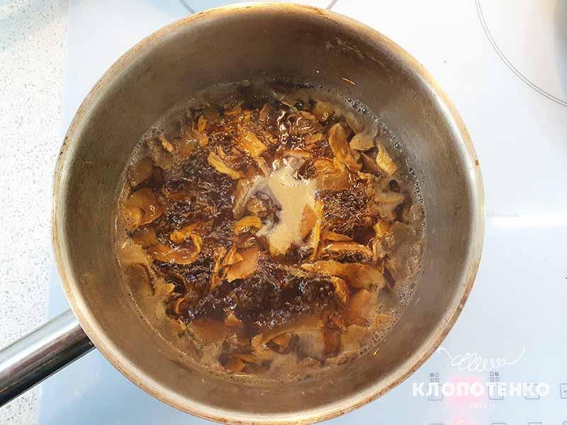 Отварите белые грибы