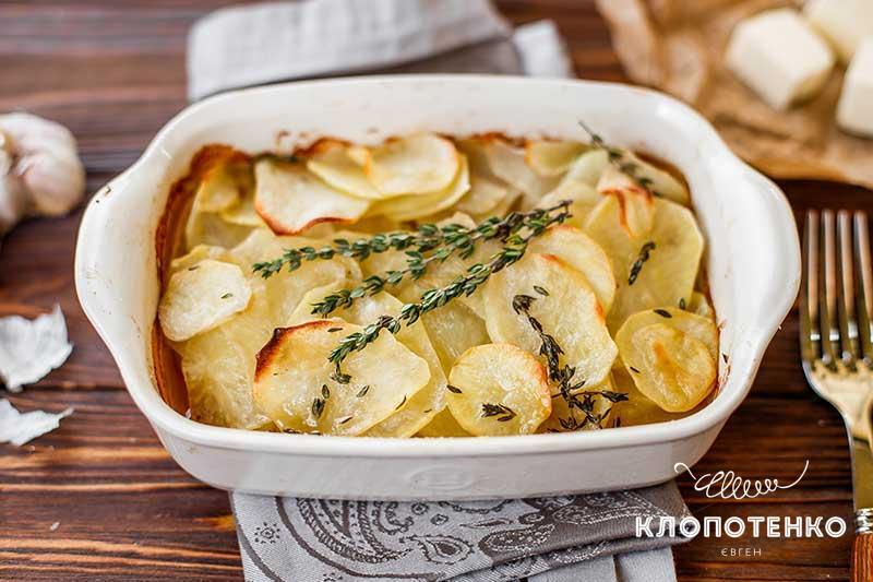 Картофельконфив духовке