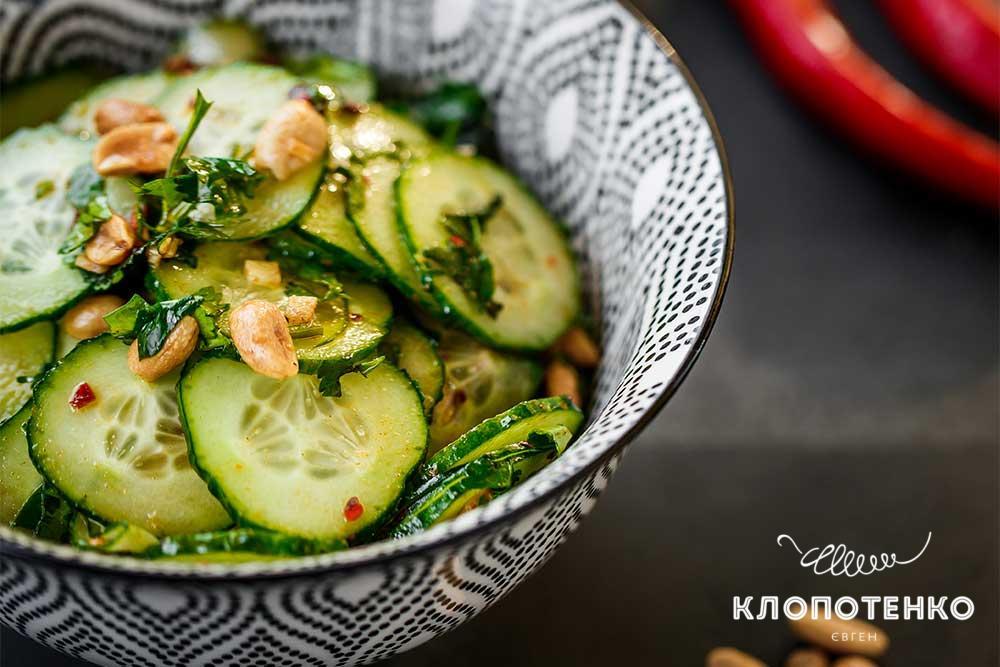 салат із огірком і чилі