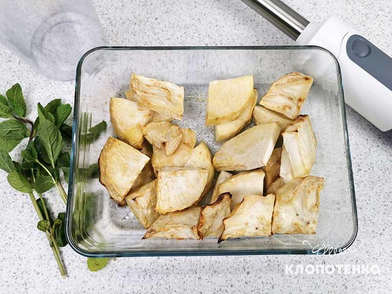 филе форели с пюре из сельдерея