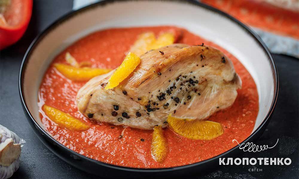 Індичка в духовці з апельсином і перцем