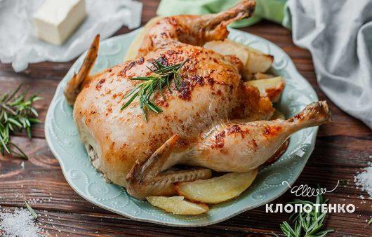 Курица, запеченная с топленым маслом