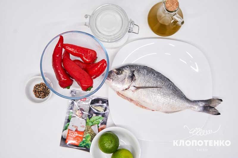 Подготовьте все ингредиенты для приготовления дорады