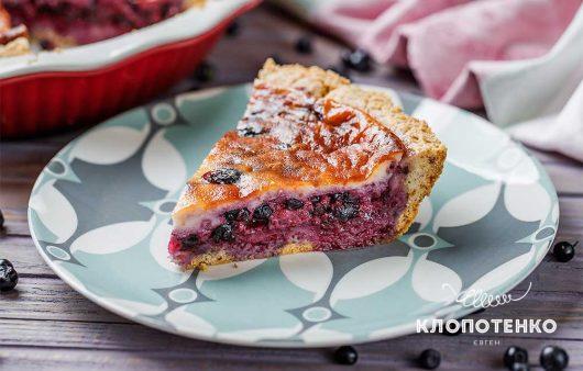 Пісочна основа та свіжа чорниця: як приготувати пиріг зі сметанною заливкою
