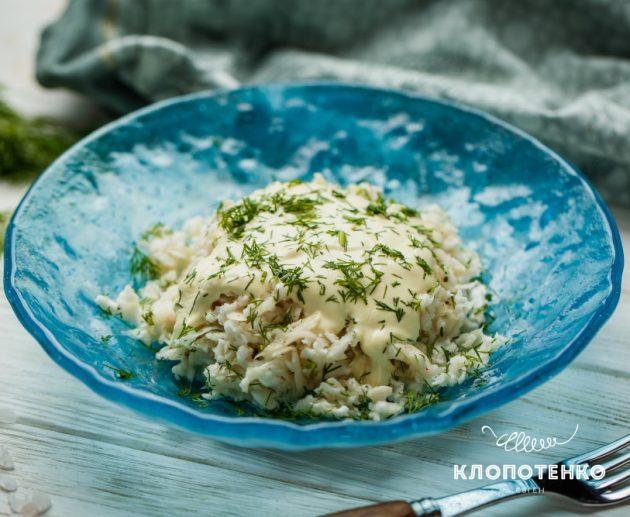 салат с редькой и сметаной
