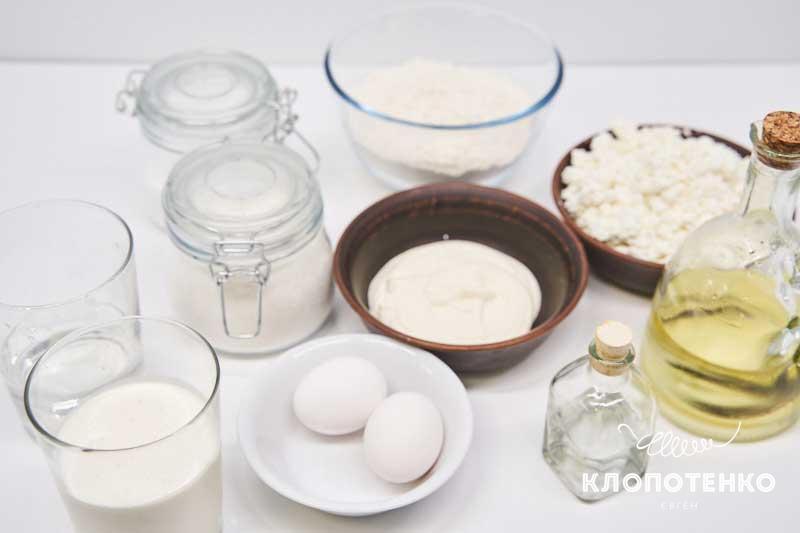 Подготовьте все ингредиенты для приготовления загорских штруклей