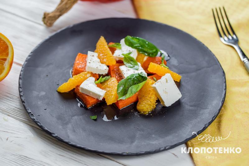 салат из тыквы с апельсинами