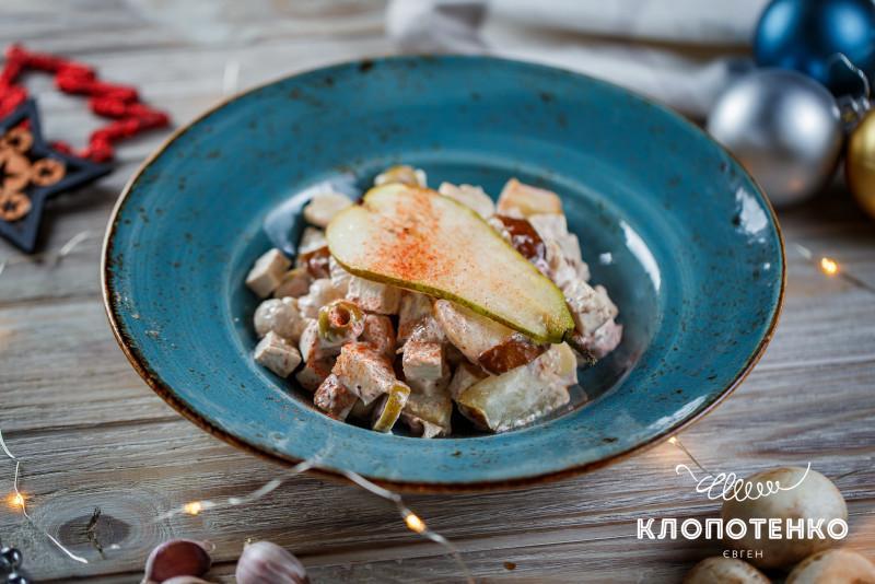 салат с запеченной грушей