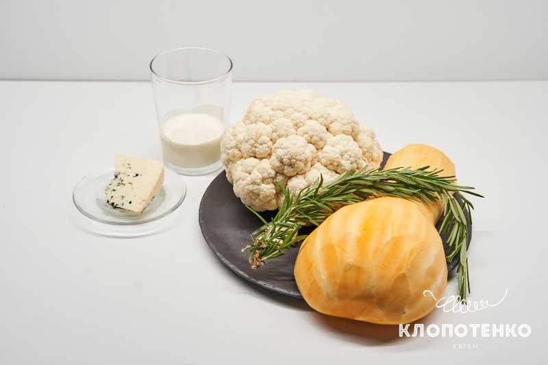 Подготовьте все ингредиенты для приготовления вкусной цветной капусты